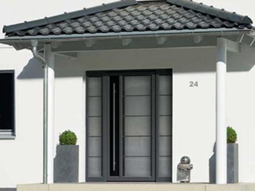 Porte d'entrée en aluminium menuisier expert qualifié RGE Maubeuge