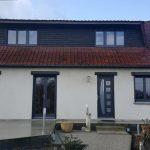 rénovation des menuiserie d'une maison comprenant la pose de porte d'entrée, de fenêtre et de baie vitrée en aluminium