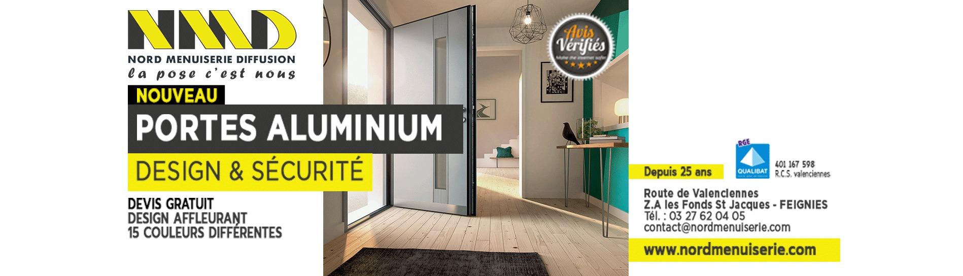 découvrez les nouvelles portes aluminium nord menuiserie feignies valenciennes
